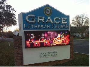 Digital church signs: Santa and his reindeer