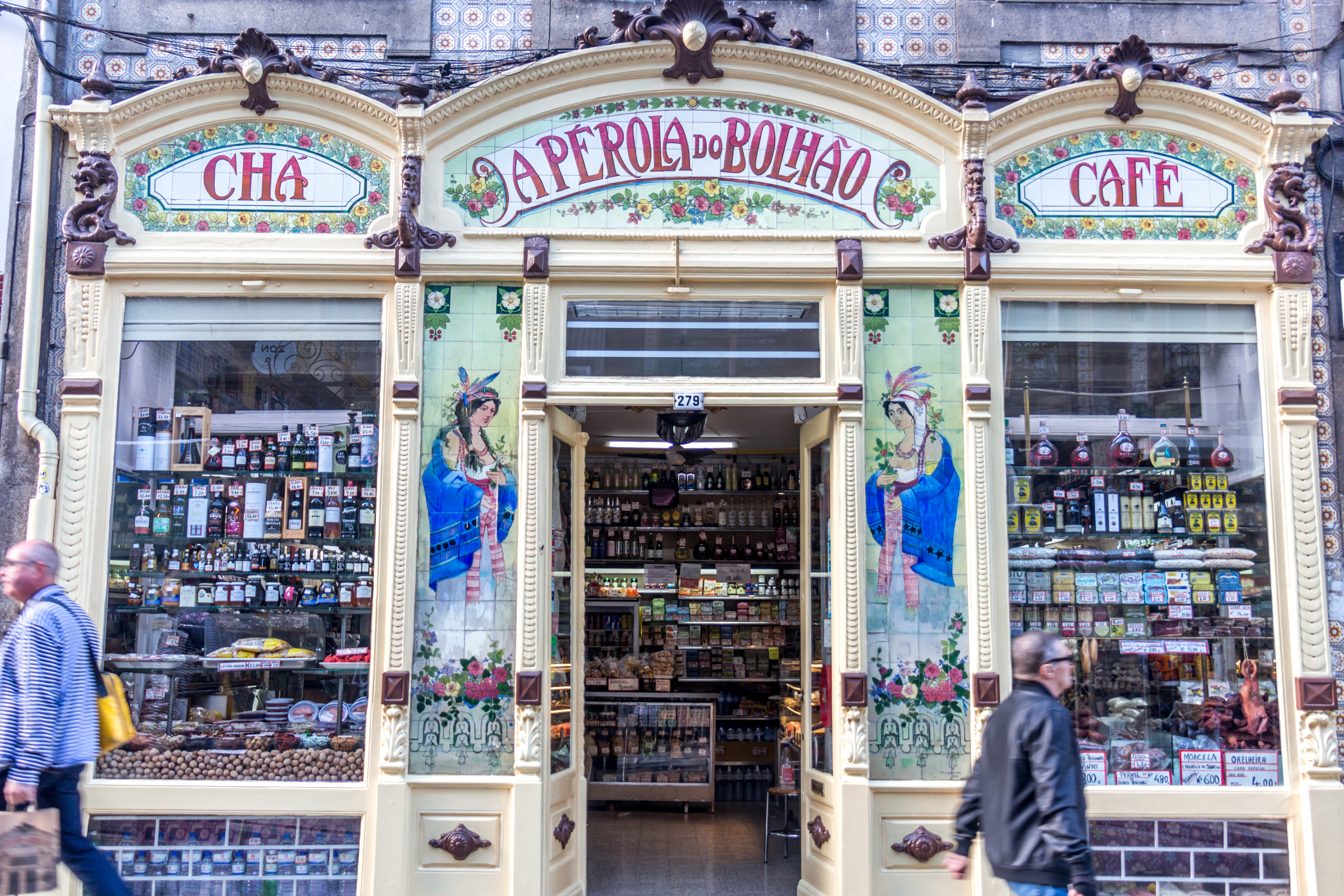 A p c3 a9rola do bolh c3 a3o is a traditional shop in porto that stocks wine 2c cheese 2c olives 2c olive oil and the much loved bacalhau