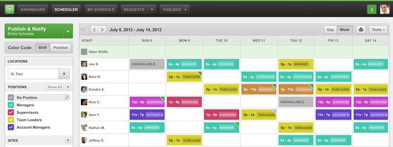 work scheduler
