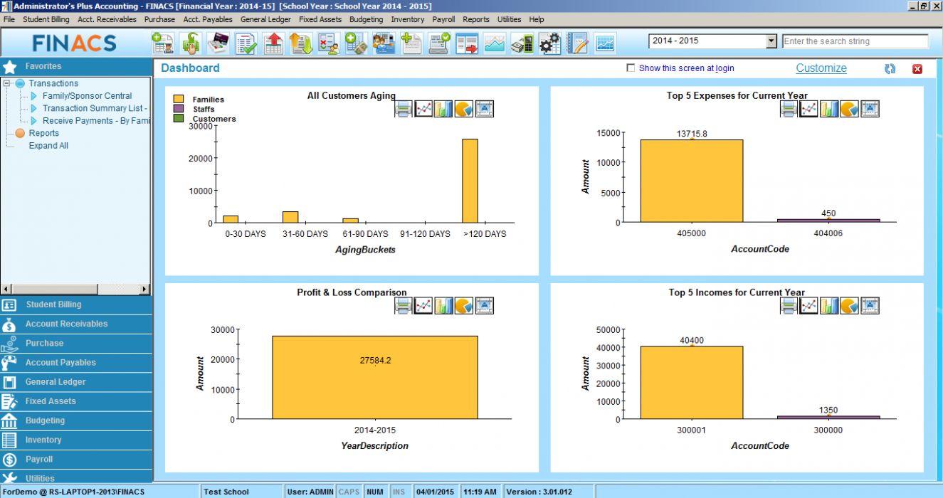 School accounting software - Rediker