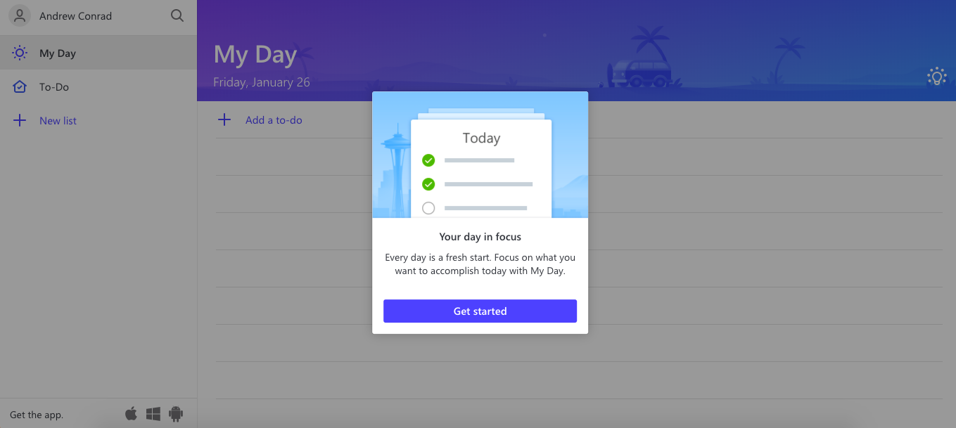 Todoist vs Wunderlist: the My Day view in Microsoft To-Do