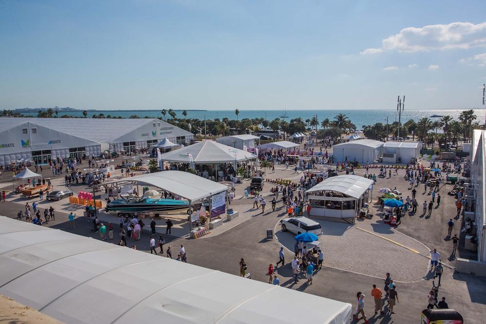 2018 miami boat show under the tent