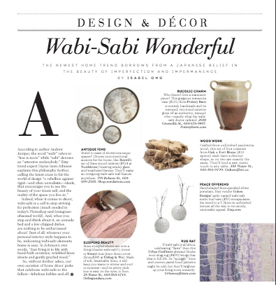 Wabi sabi wonderful vita magazine