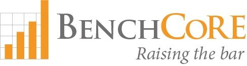 Benchcore logo bw