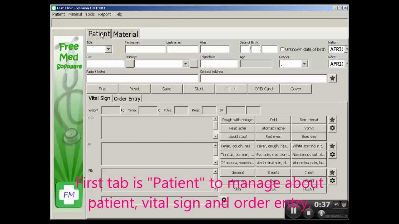 FreeMED software screenshot