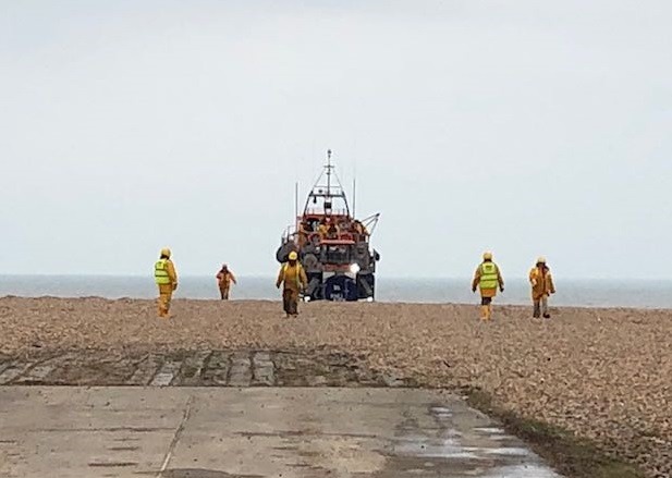 Dungeness lifeboat tasked to recover body
