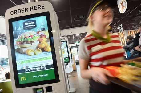 First uk trial of kiosk digital ordering system and table service