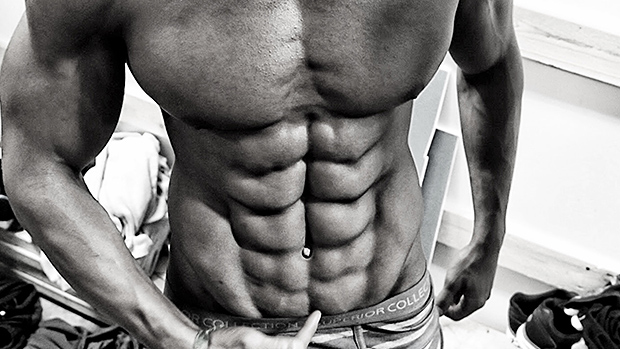 Get abs without being skinny and weak