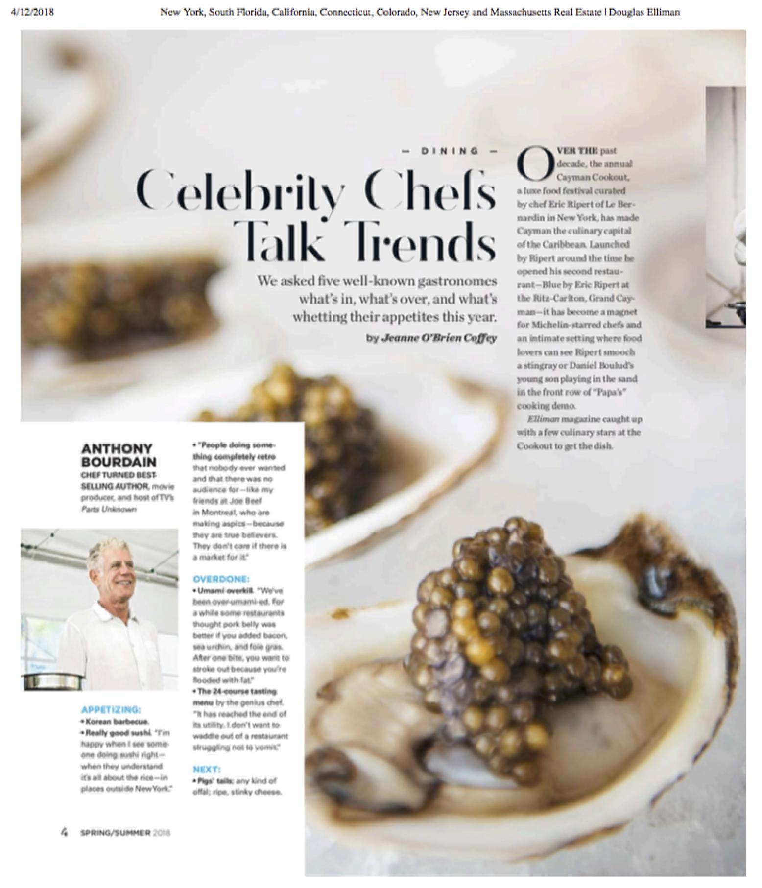 Celebrity chefs elliman