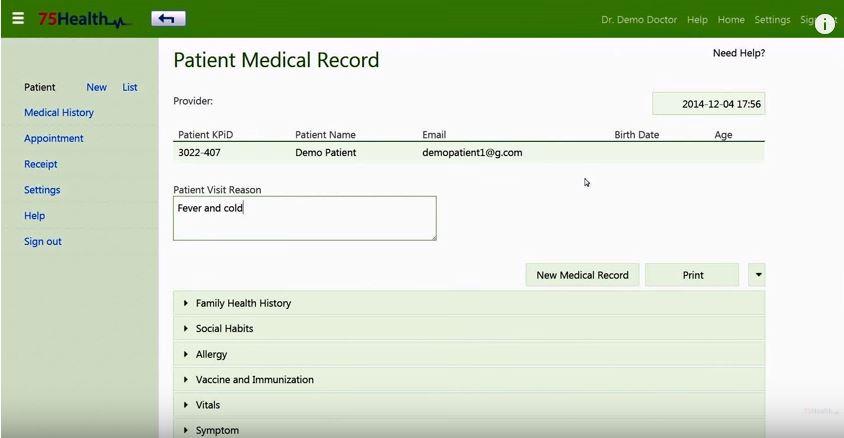 75health health record