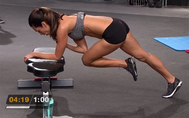 15 of the Best Core Exercises From Beachbody Programs Elevated Bird Dog Crunch