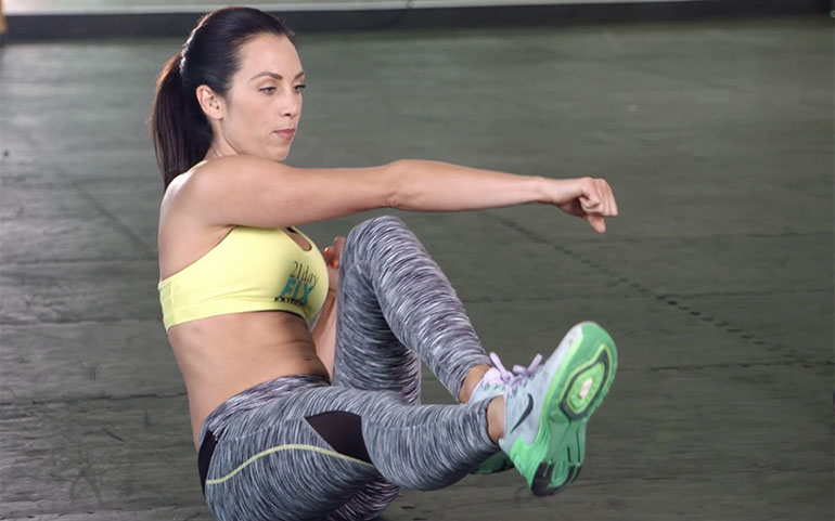 15 of the Best Core Exercises From Beachbody Programs Bicycle Crunch and Punch