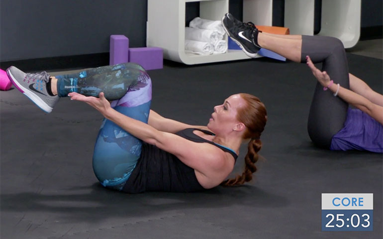 15 of the Best Core Exercises From Beachbody Programs Knees to 90 Crunch