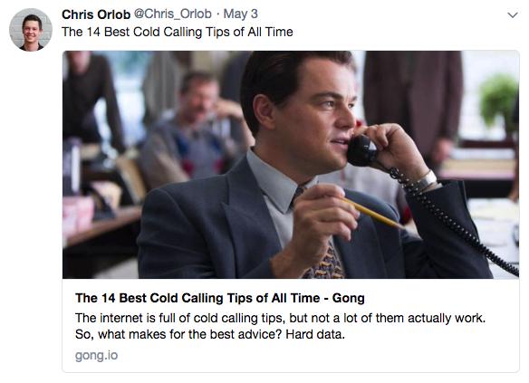 Chris Orlob tweet screenshot
