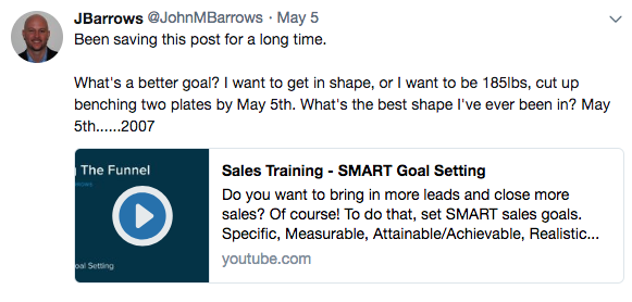 John M Barrows tweet screenshot