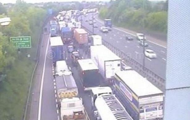 M25 crash highways england