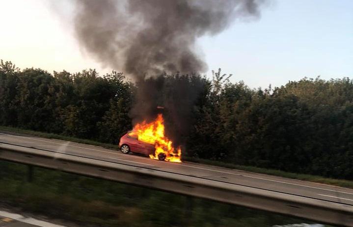 M20 car fire ashford