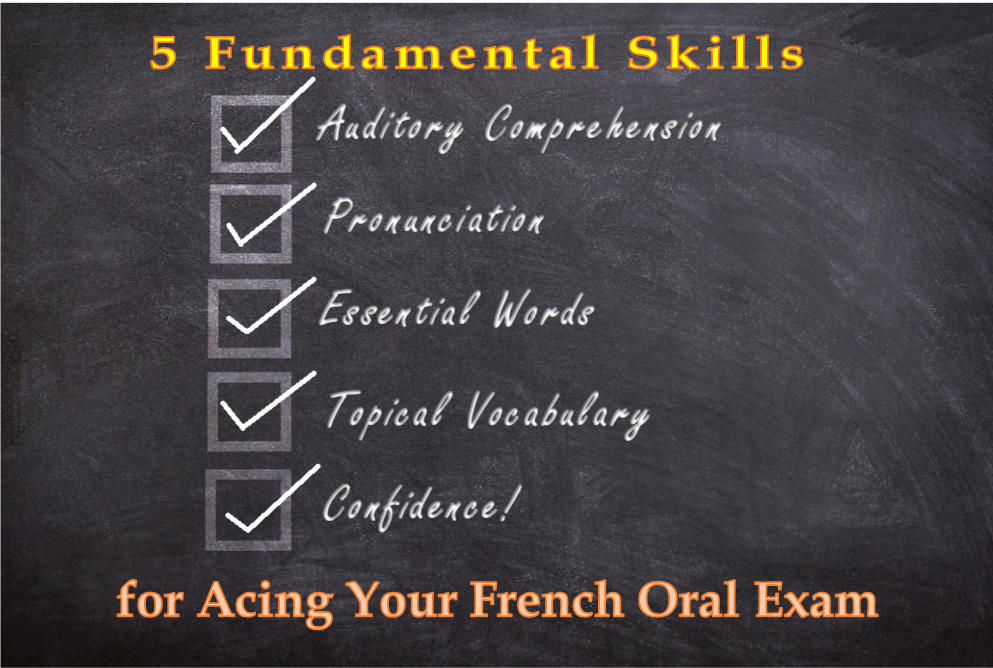 5 fundamentals oral french exam final