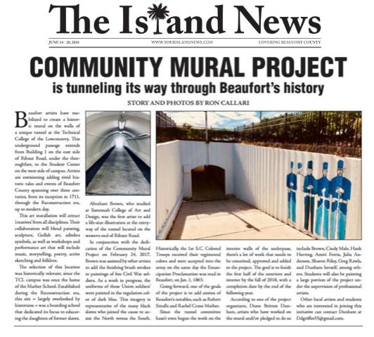 Community mural project island news