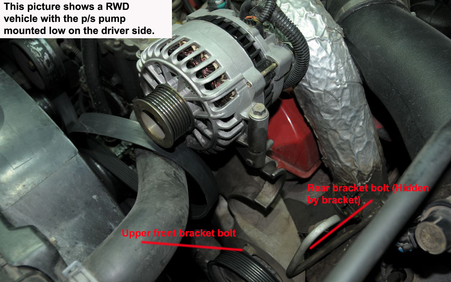 Learn how to replace bad power steering pumps and hoses here