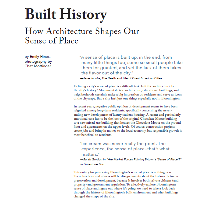 Cover built history