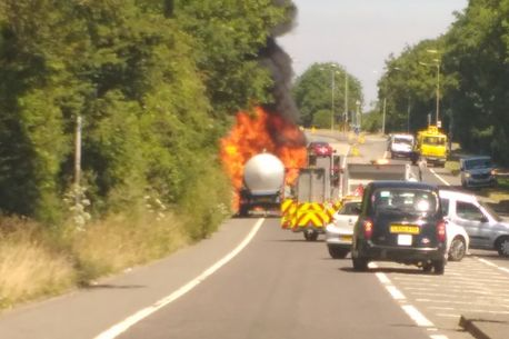 West kingsdown tractor fire