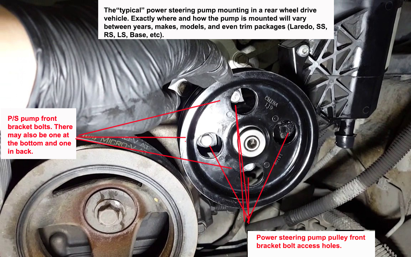 Learn How To Replace Bad Power Steering Pumps And Hoses Here Hose On Chevy Silverado Replacing A Pump