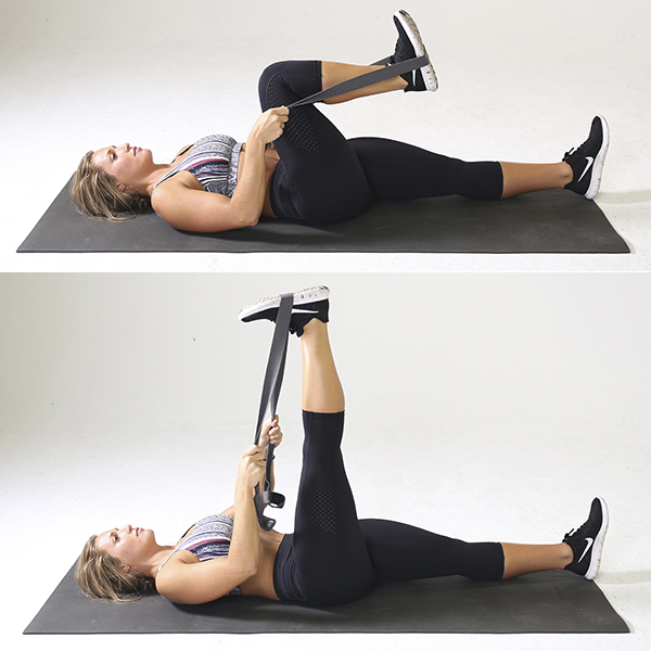 Lying Single Leg Extension | how to stretch hamstrings