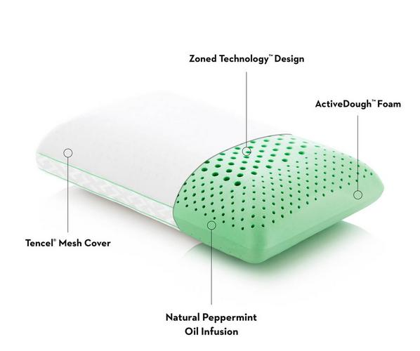 Malouf Z Zoned ActiveDough Peppermint Loft Pillow