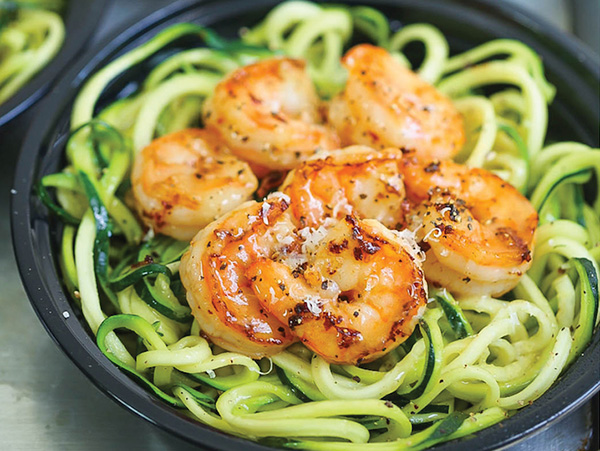 Shrimp Zucchini Noodles Meal Prep Dinner