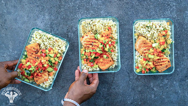 Salmon with Coconut Rice Healthy Meal Prep Dinner