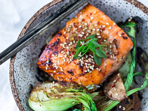 Sheet Pan Salmon and Bok Choy Easy Meal Prep Dinner