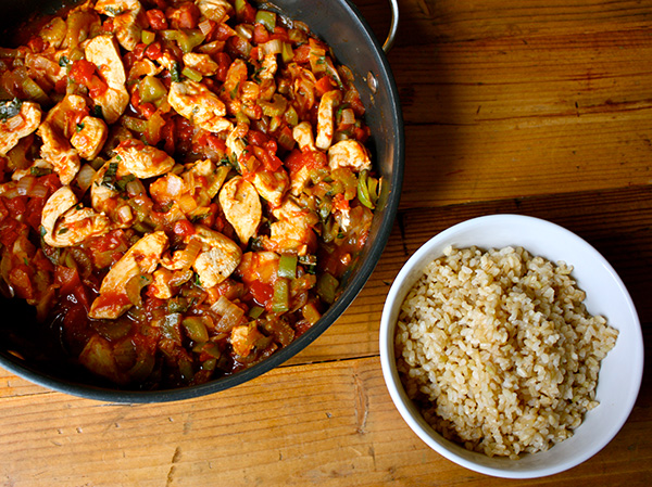 Zesty Chicken with Brown Rice Meal Prep Dinner recipe
