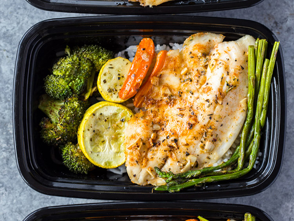 Sheet Pan Tilapia and Veggies Healthy Meal Prep Dinner