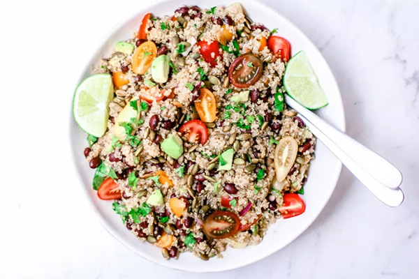 Quinoa and Black Bean Salad Dinner Meal Prep