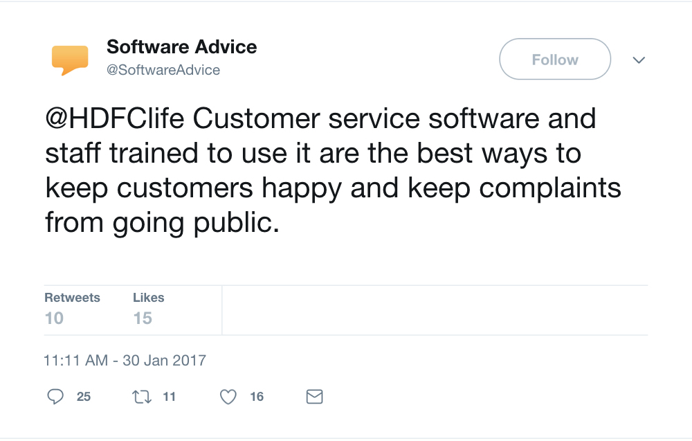 software advice reply