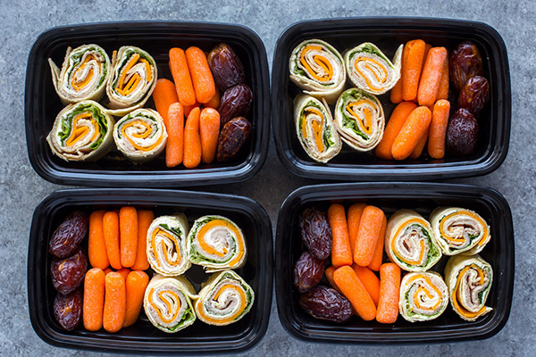 Turkey and Cheese Pinwheels easy meal prep lunch