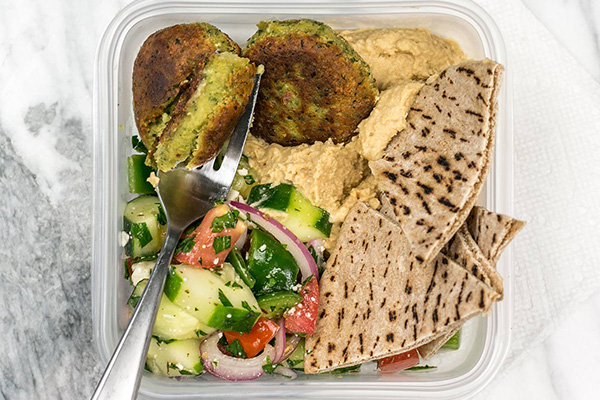 Sunday Meal Prep Falafel Hummus Box Meal Prep Lunch