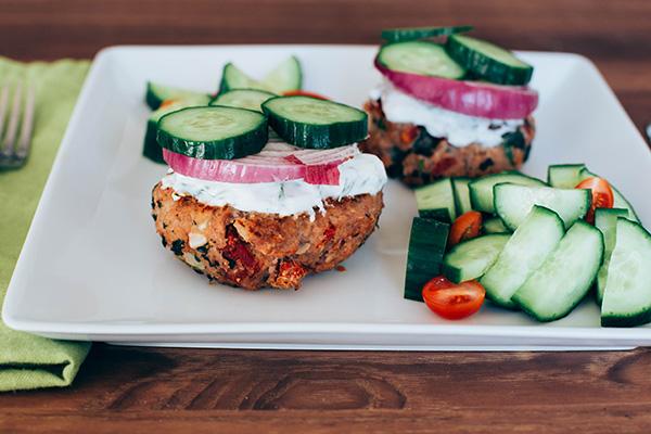 Mediterranean Turkey Burgers Easy Meal Prep Lunches