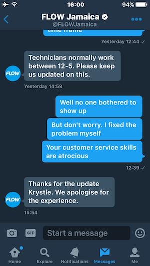 customer service fail