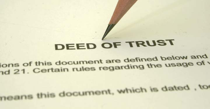 Pencil on a deed of trust