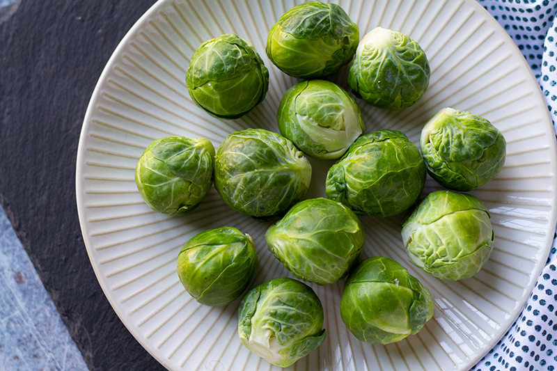 100 Calories of Vegetables - Brussels Sprouts