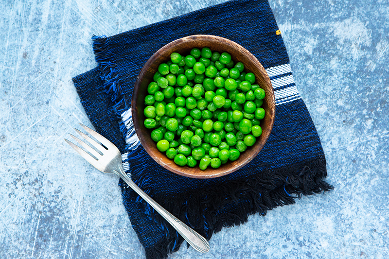 100 calories of vegetables - peas