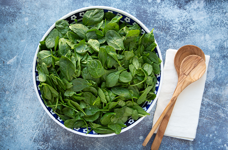 100 Calories of Vegetables - Spinach
