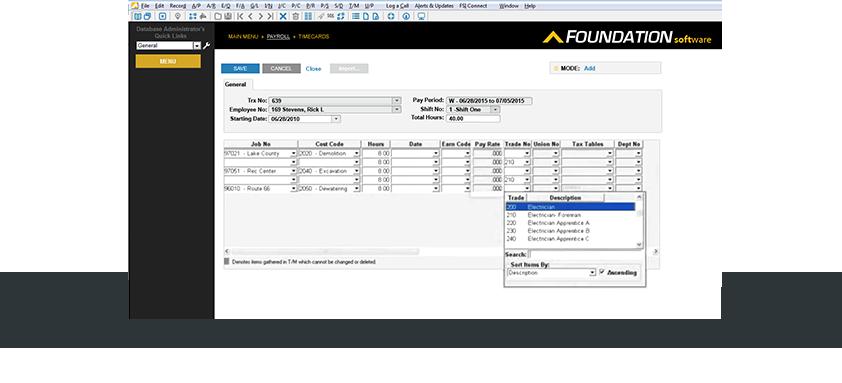 FOUNDATION's payroll dashboard