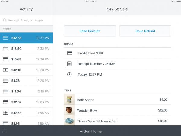 Sales log in Square POS