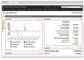 Brightpearl's web-based ERP dashboard