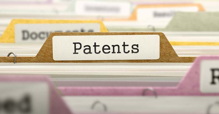 "Folder labeled ""Patents"""