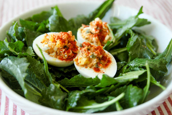 Cottage Cheese Deviled Eggs