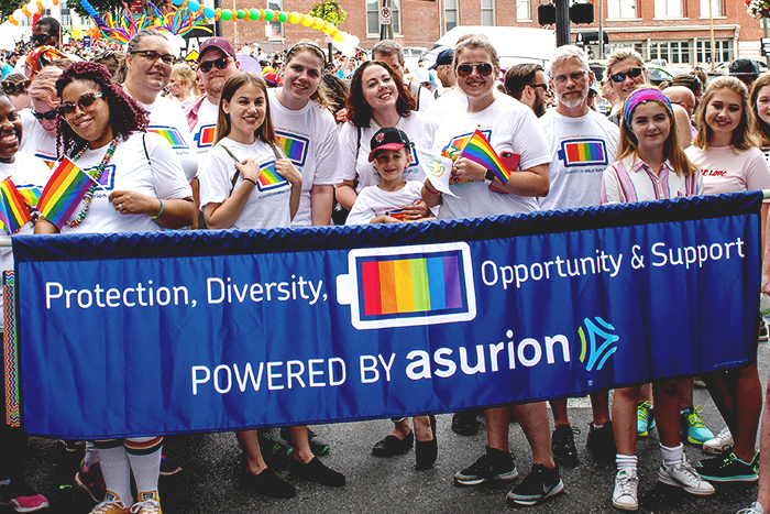 Asurion named a Best Place to Work for LGBTQ Equality